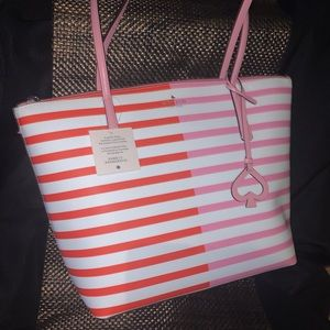Pink and Red Kate spade tote